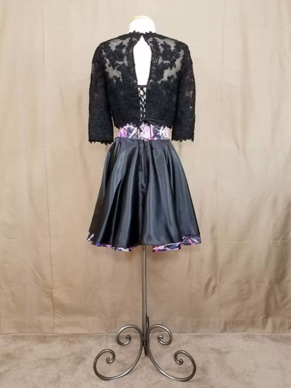 AE-B-3 21in Skater Skirt Back Outfit Camo Bridesmaid Skirt (image)