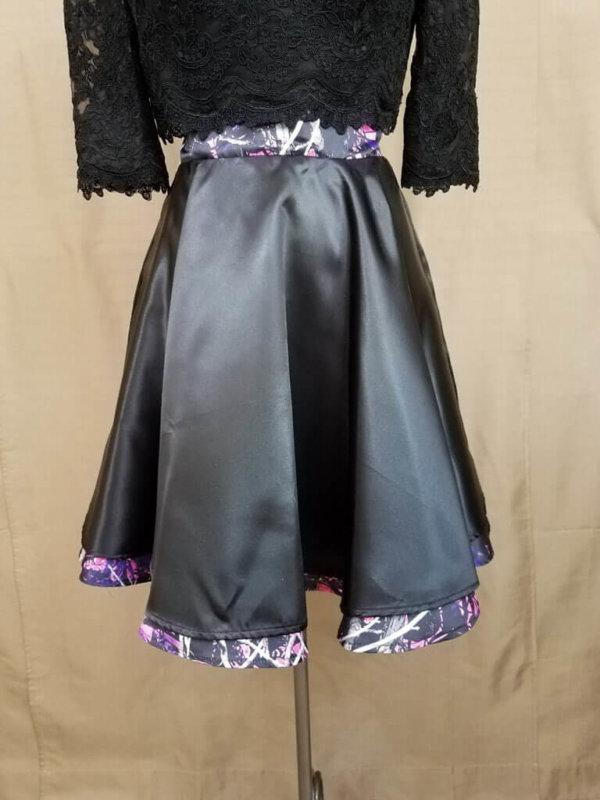AE-B-3 21in Skater Skirt Front Camo Bridesmaid Skirt (image)