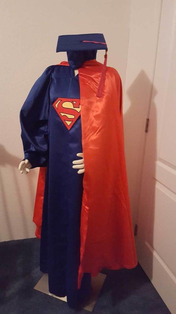 Superman Graduation Cap and Gown