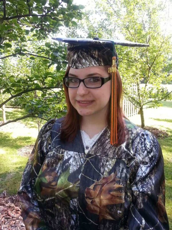 Camo Graduation Cap and Gown