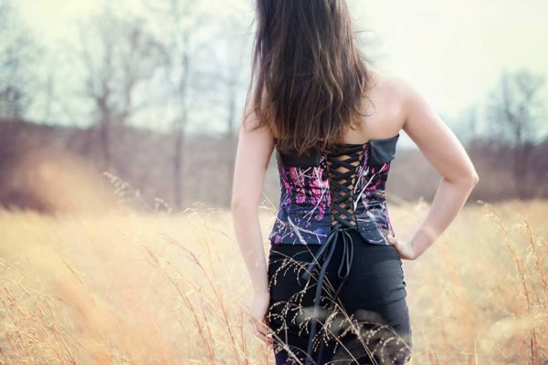 AE-T-1 Camisole Optional Corset Back-2 Muddy Girl Camo Bridesmaid Camisole (image)