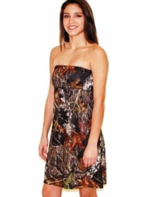 Strapless Camo Dress Zoey