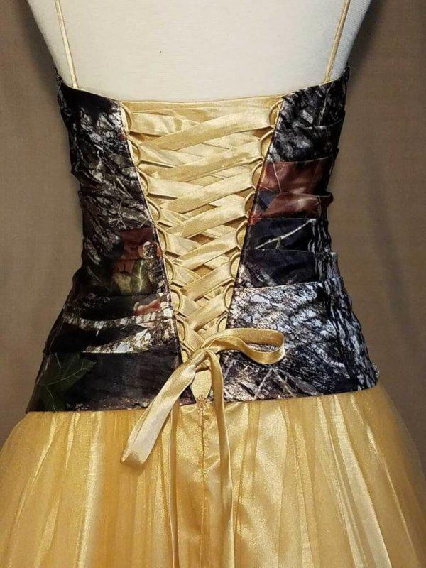 Camo Dress Full Skirt Isabella Corset Back Details