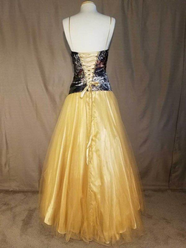 Camo Dress Full Skirt Isabella Corset Back