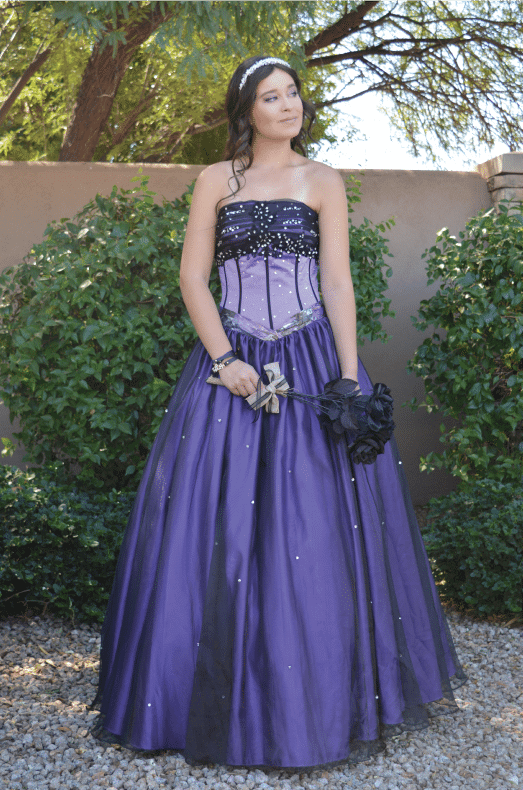 Strapless Purple Prom Dress Alexandria