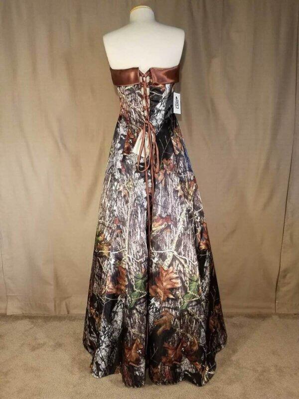 Strapless Full Length Camo Dress Terri Back