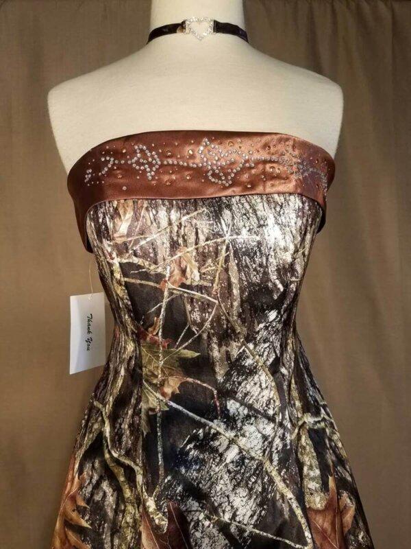 Strapless Full Length Camo Dress Terri Bodice