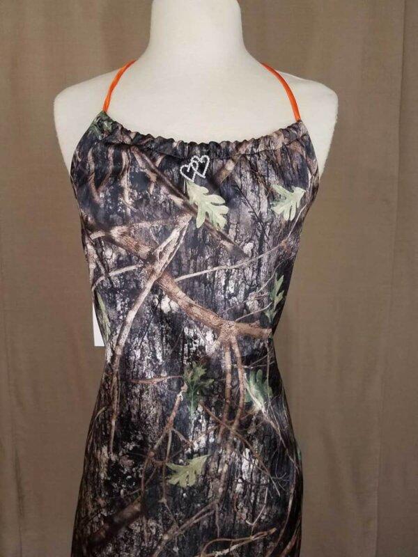 Halter Style Camo Dress Zoe Bodice