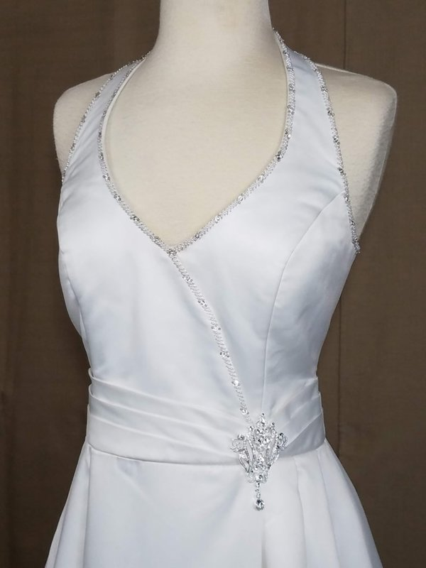 Halter Wedding Gown Angel Q Bodice