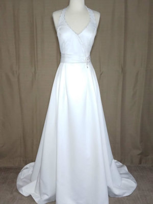 Halter Wedding Gown Angel Q