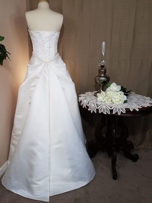 Gathered Skirt Wedding Dress Helena Back