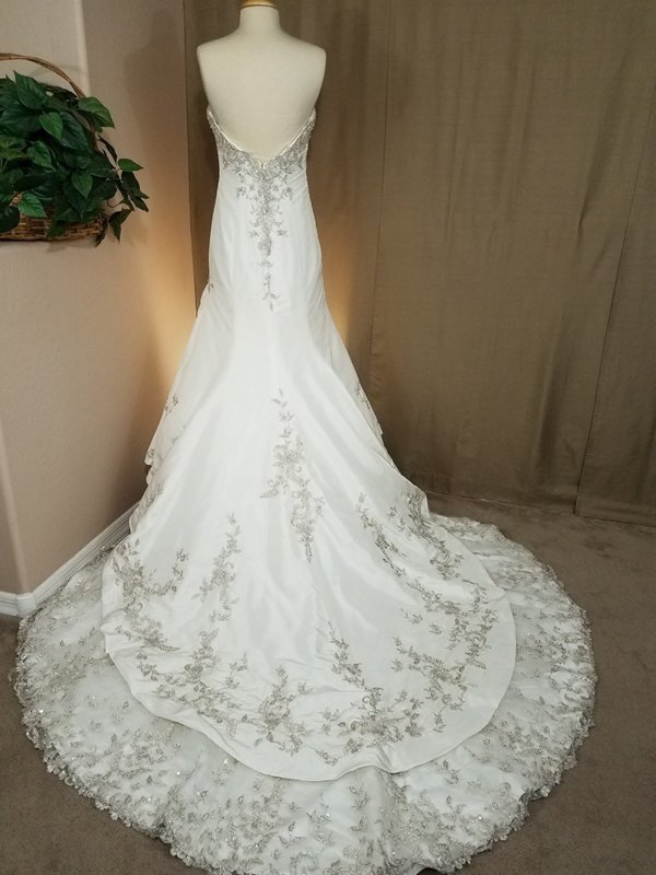Strapless Used Wedding Gown Alexandra Back