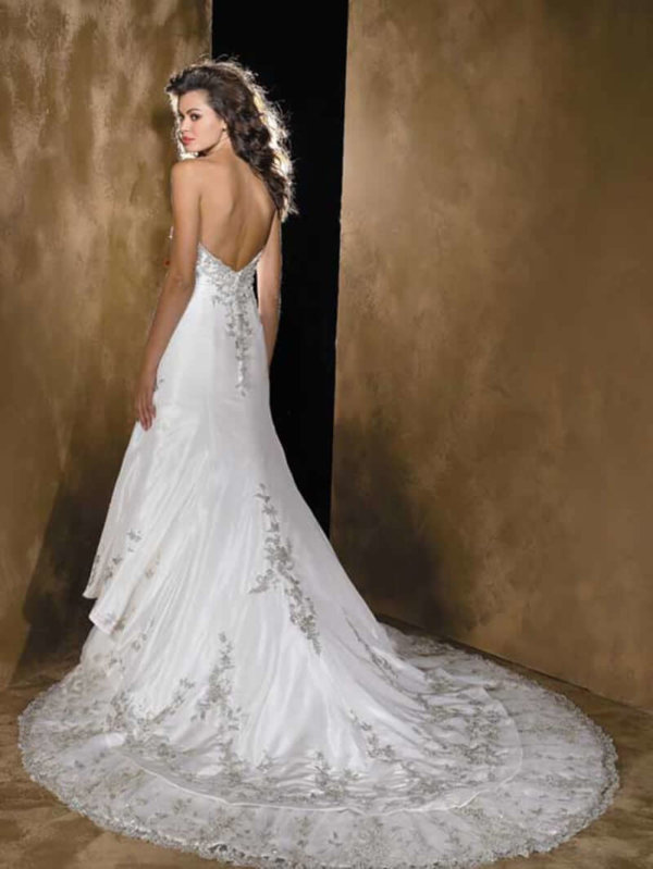Strapless Wedding Gown Alexandra Back