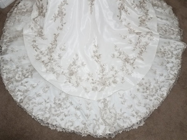 Strapless Used Wedding Gown Alexandra Train Details