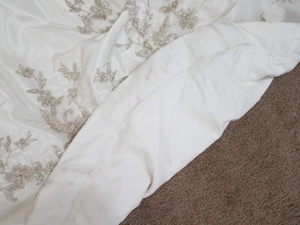 Strapless Used Wedding Gown Alexandra Train Underside