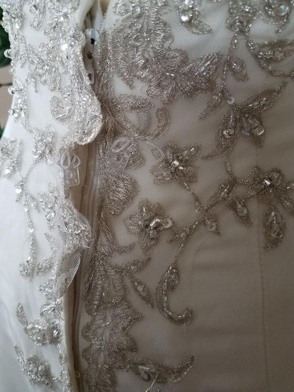 Strapless Used Wedding Gown Alexandra Zipper