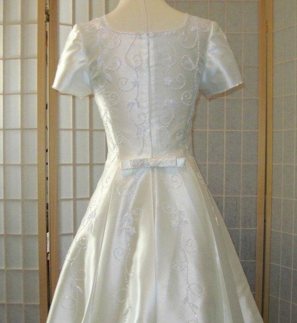 Modest Wedding Dress Emily Bodice Back