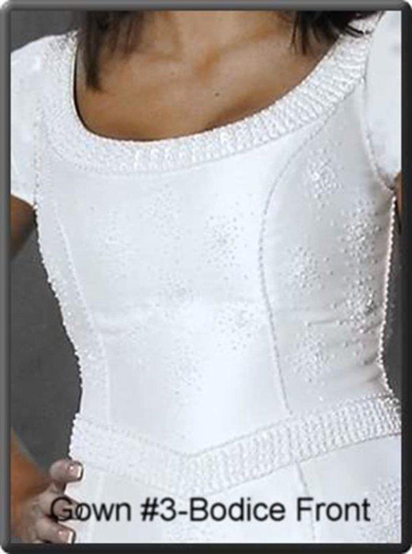 Modest Wedding Gown Hannah on Model Bodice