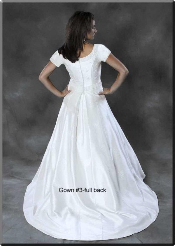 Modest Wedding Gown Hannah on Model Back
