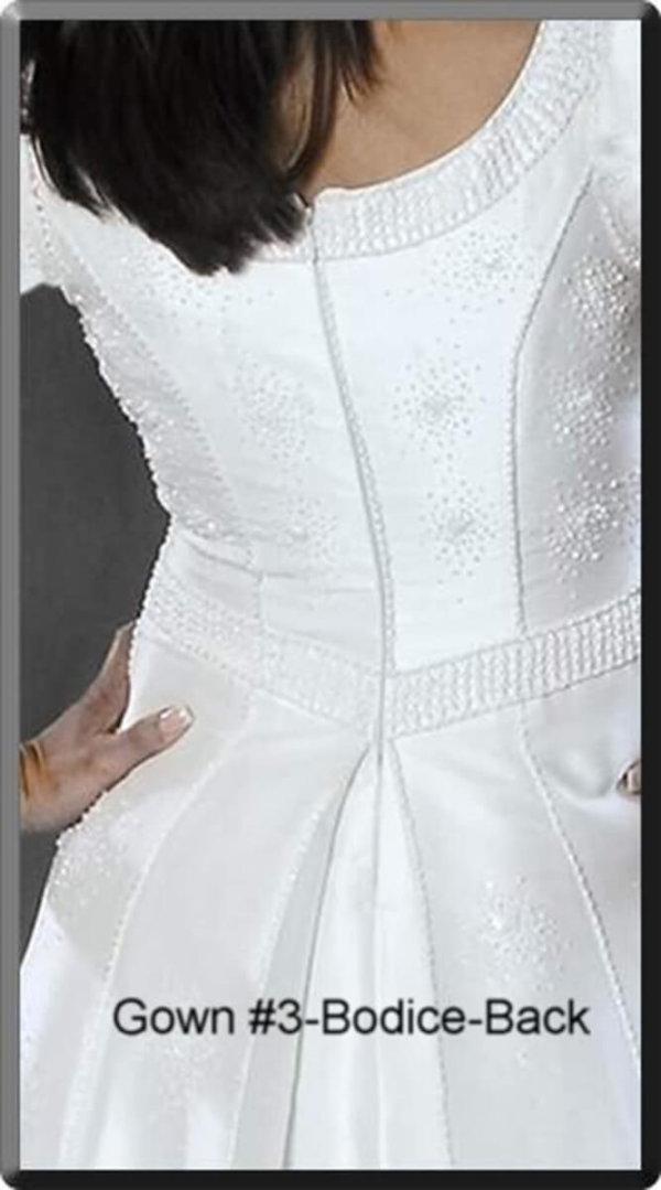 Modest Wedding Gown Hannah Bodice Back