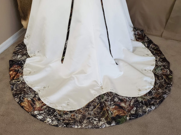 Camo wedding gown Anita Train