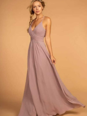 V-Neckline Bridesmaid Dress