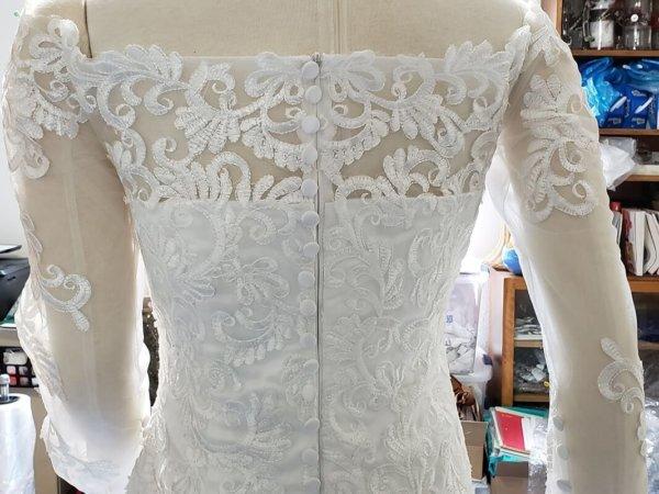 Kiana Mermaid Train Wedding Gown Back