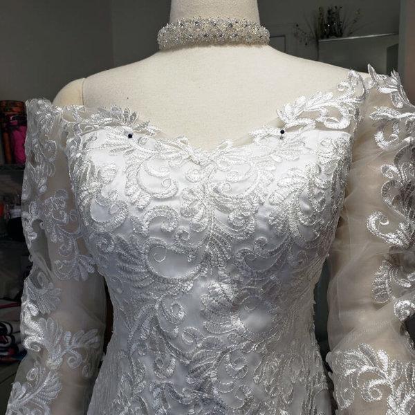 Kiana Mermaid Train Wedding Gown Chest