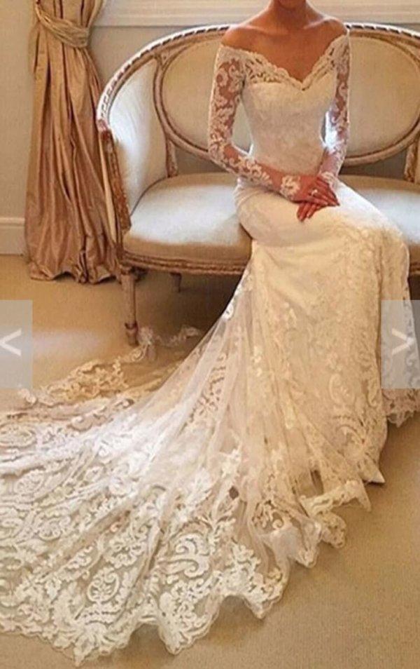 Kiana Mermaid style wedding gown