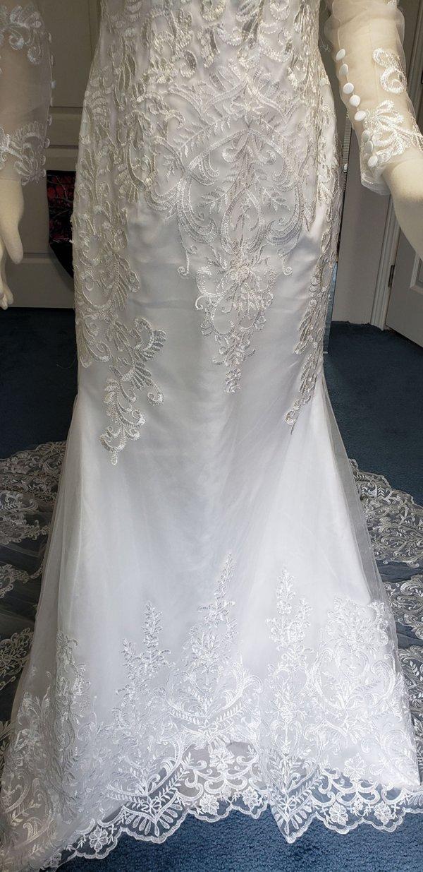 Kiana Mermaid Train Wedding Gown rear