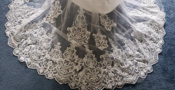 Kiana Mermaid Train Wedding Gown Train