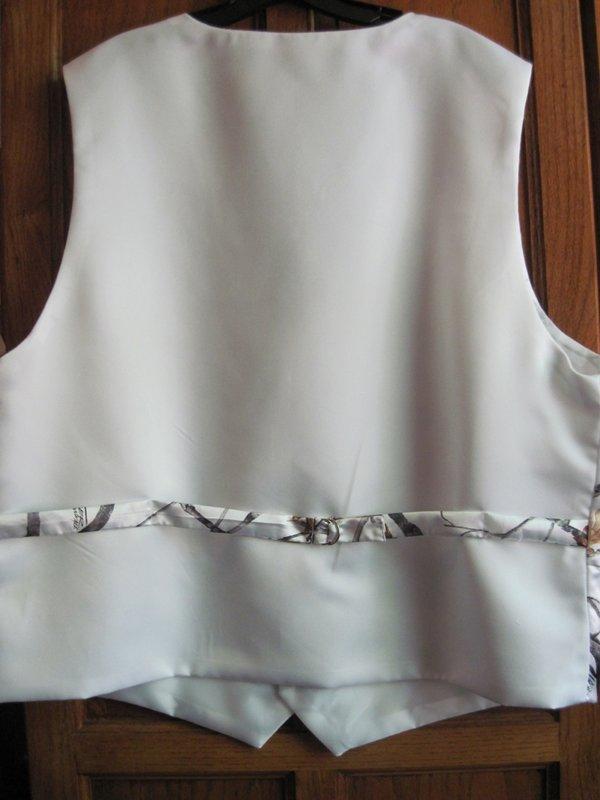 Youth White Camo 4 Button Vest