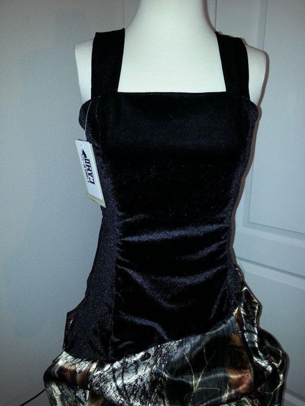 AE-25 Braley Strap Option Camo Bridesmaid Dress (image)