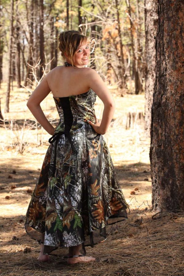 ATOC-0311E Deanna Full Back Camo Bridesmaid Dress (image)