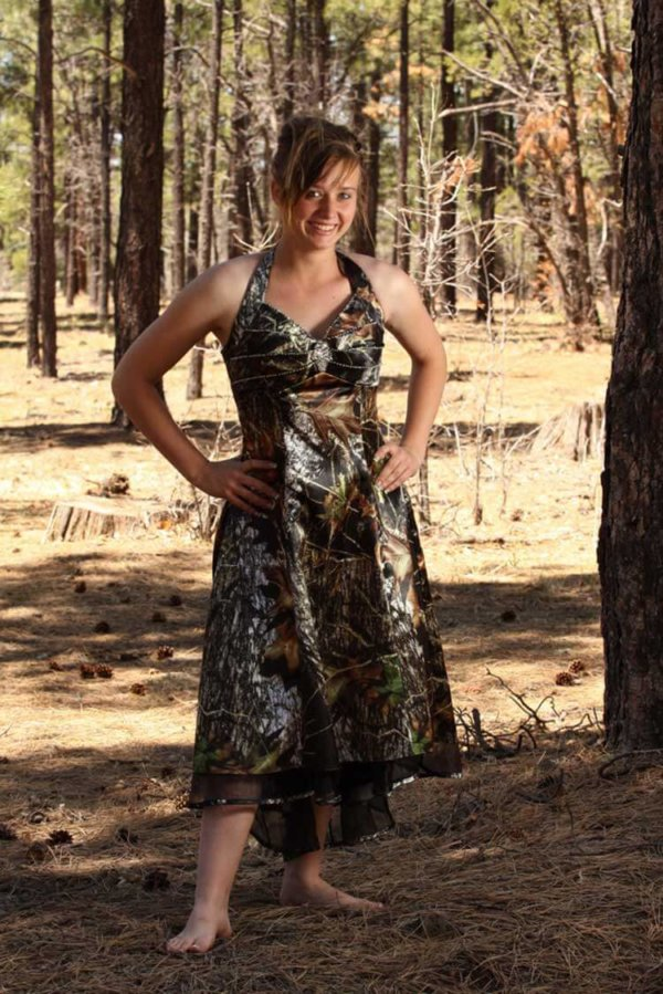 ATOC-0311E Deanna Full Front Camo Bridesmaid Dress (image)
