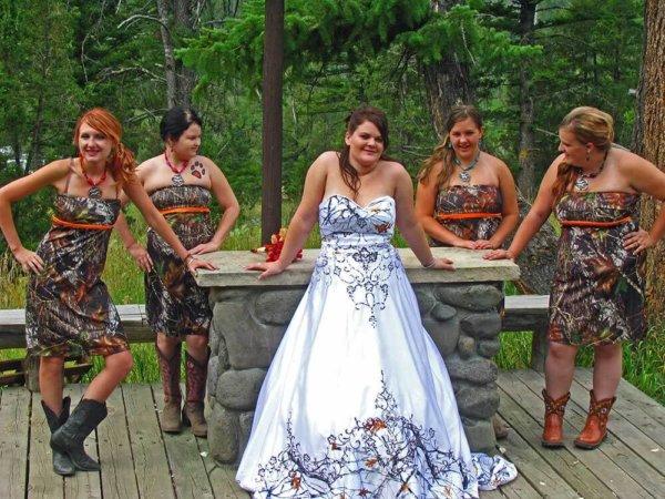 ATOC-0911 Anita True Timber SnowFall Bridal Party Camo Gown (image)