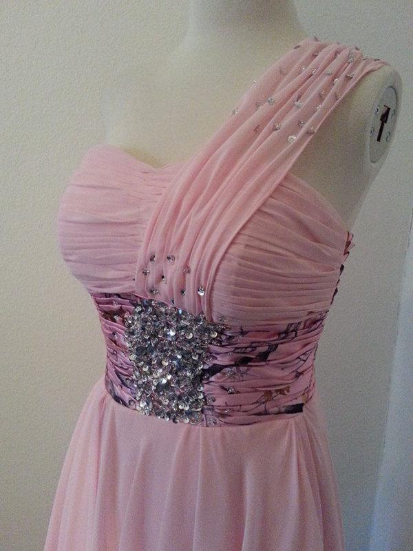 ATOC-1113B Tammy Bodice Front Camo Bridesmaid Dress (image)