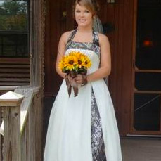 Camo Wedding Dress with Yellow flowers
