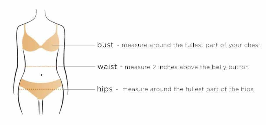 Girls' measurements guide (image)